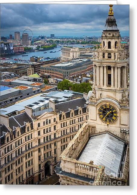 Saint Paul's Cathedral View Greeting Card by Inge Johnsson
