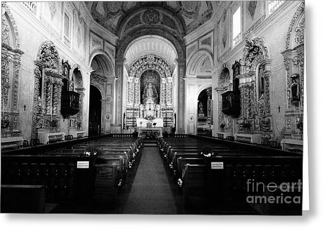 Azoren Greeting Cards - Saint Peter church Greeting Card by Gaspar Avila