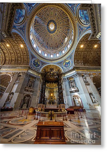 Saint Peter's Grandeur Greeting Card by Inge Johnsson