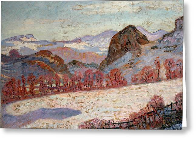 Saint Sauves D'auvergne Greeting Card by Jean Baptiste Armand Guillaumin