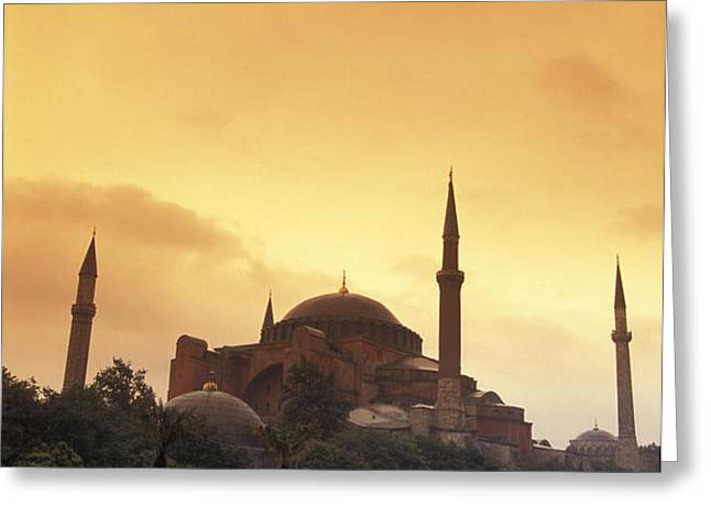 Saint Sophia Hagia Sophia At Sunset Greeting Card by Richard Nowitz
