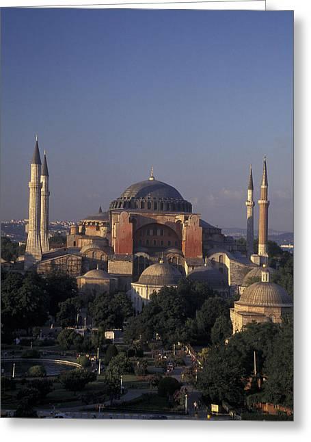 Justinian Greeting Cards - Saint Sophia Hagia Sophia Greeting Card by Richard Nowitz