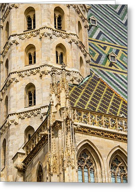 Saint Stephens Facade Two  Greeting Card by Bob Phillips