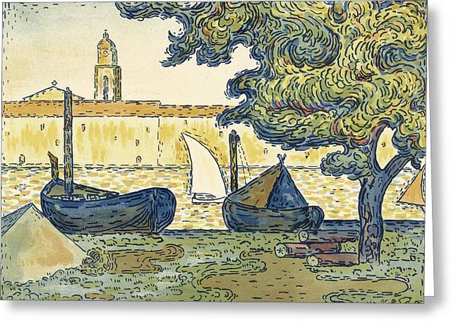 Saint-tropez Greeting Card by Celestial Images
