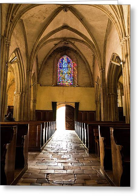 Sainte Mere Eglise Light Greeting Card by John Daly