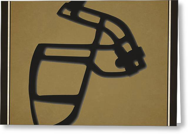 New Orleans Saints Greeting Cards - Saints Face Mask Greeting Card by Joe Hamilton