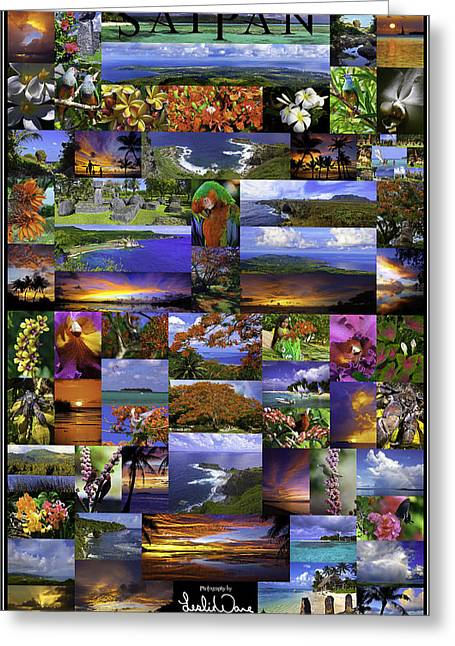 Sunset Posters Greeting Cards - Saipan Poster Greeting Card by Leslie Ware