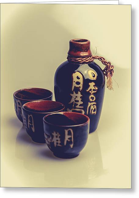 Sake Greeting Card by A Souppes