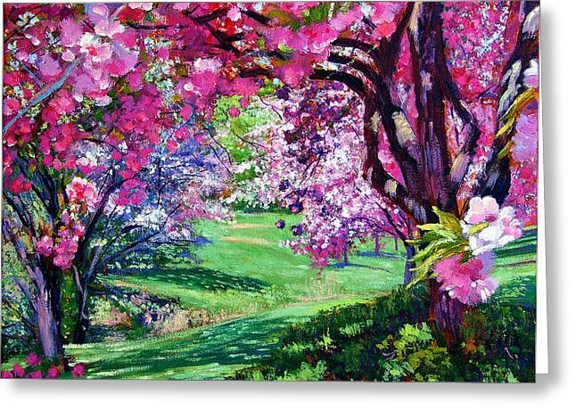 Sakura Romance Greeting Card by David Lloyd Glover