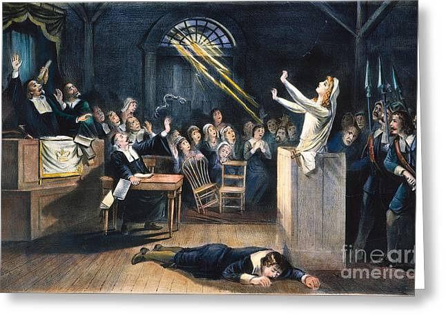 SALEM WITCH TRIAL, 1692 Greeting Card by Granger