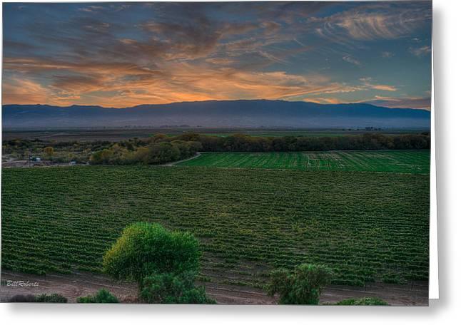 Salinas Valley Sunset Greeting Card by Bill Roberts