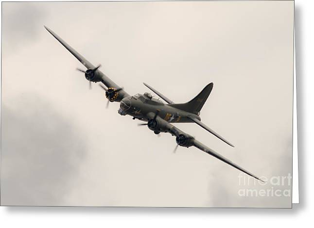Usaac Greeting Cards - Sally B Flying Fortress Greeting Card by J Biggadike