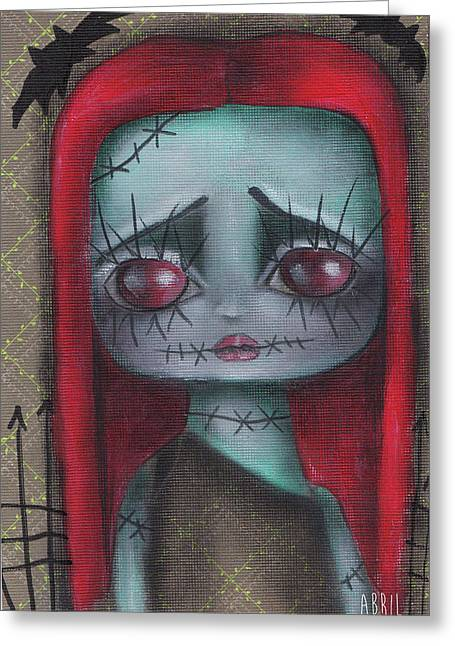 Sally Girl Greeting Card by Abril Andrade Griffith