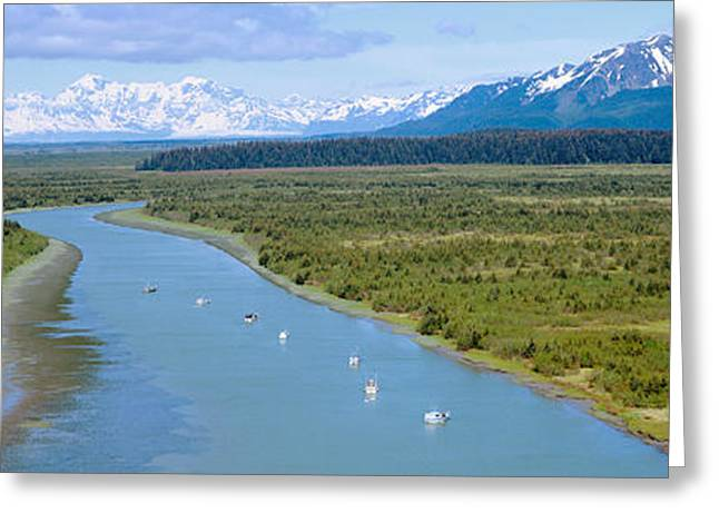 Fishing Boats Greeting Cards - Salmon Fishing Boats At Wrangell-st Greeting Card by Panoramic Images