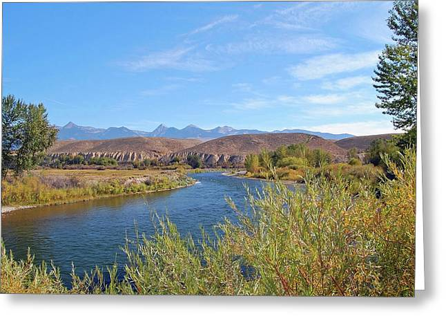 Salmon River Greeting Card by Ben Prepelka