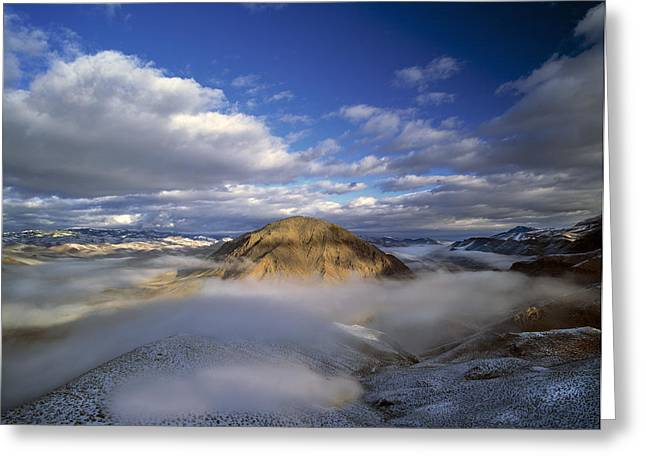 Salmon River Greeting Cards - Salmon River Mountains Greeting Card by Leland D Howard
