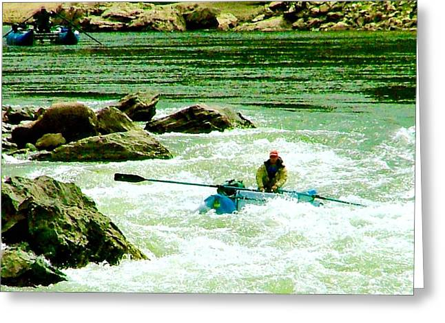 White Salmon River Greeting Cards - Salmon River Rafting Greeting Card by Brent Sisson