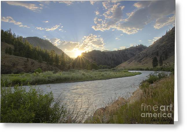 Salmon River Idaho Greeting Cards - Salmon Sunset Greeting Card by Idaho Scenic Images Linda Lantzy
