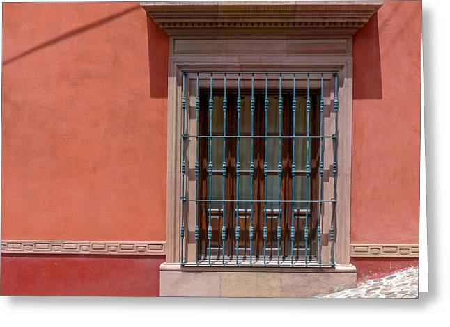 Bar San Miguel Greeting Cards - Salmon Wall with Window Greeting Card by Douglas J Fisher