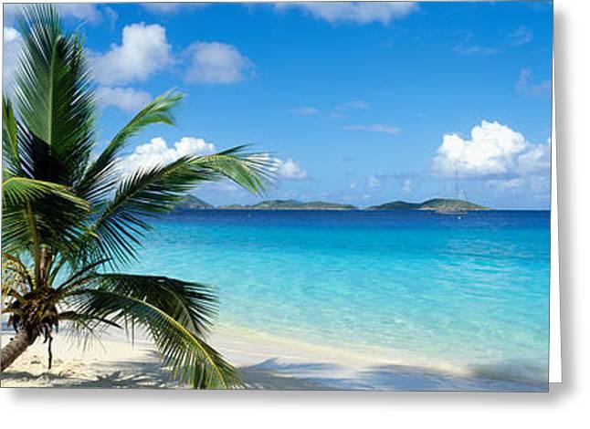 Salomon Beach Us Virgin Islands Greeting Card by Panoramic Images