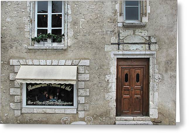French Doors Greeting Cards - Salon de The Greeting Card by Dave Mills