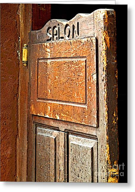 Bar San Miguel Greeting Cards - Saloon Door 3 Greeting Card by Olden Mexico