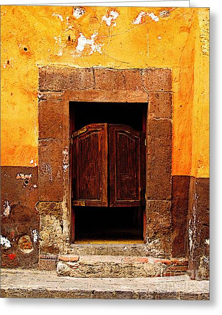 Portal Greeting Cards - Saloon Door 5 Greeting Card by Olden Mexico