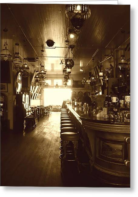 Saloons Greeting Cards - Saloon Greeting Card by Lori Seaman