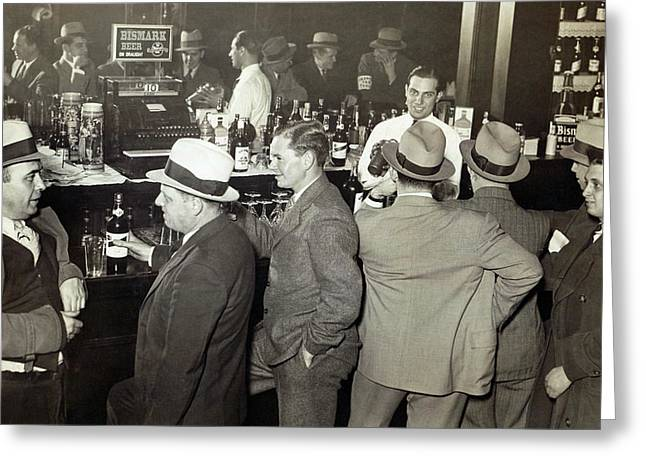 Saloon Opens - Prohibition Ends 1933 Greeting Card by Daniel Hagerman