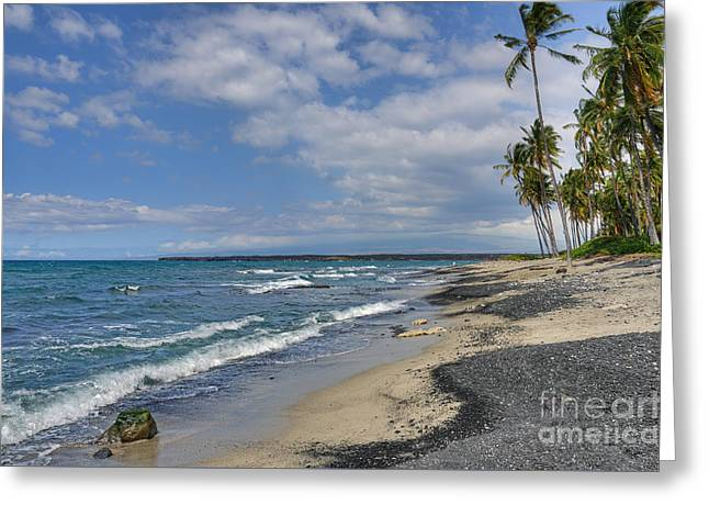 Ocean Photography Greeting Cards - Salt and Pepper Beach Greeting Card by David Lawson