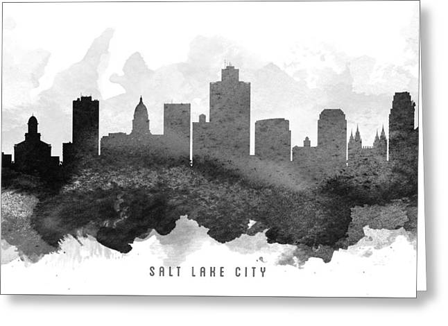 Salt Lake City - Utah Greeting Cards - Salt Lake City Cityscape 11 Greeting Card by Aged Pixel