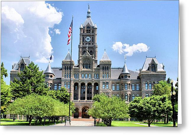 Salt Lake City County Building Greeting Card by Kristin Elmquist