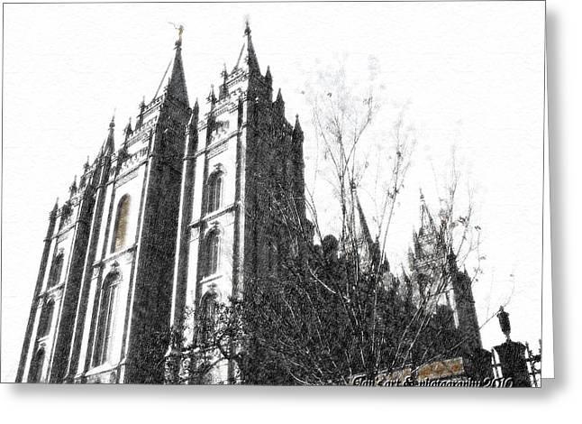 Salt Lake City Temple Digital Art Greeting Cards - Salt Lake Temple Greeting Card by Jan  Tribe