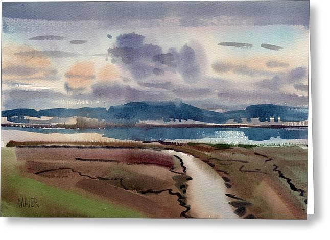 Salt Marsh On San Francisco Bay Greeting Card by Donald Maier