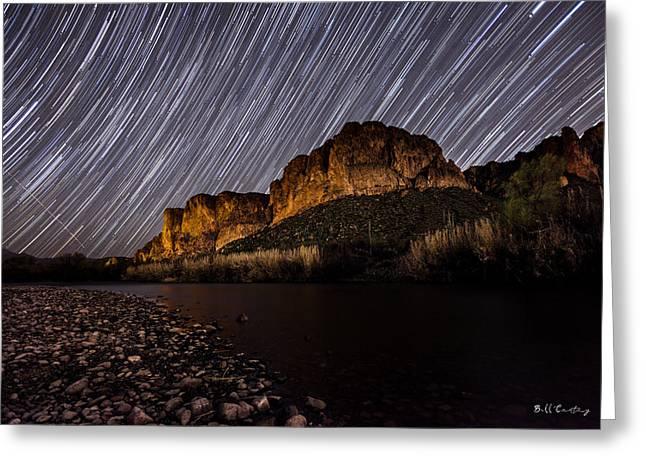 Salt River Star Trails Greeting Card by Bill Cantey
