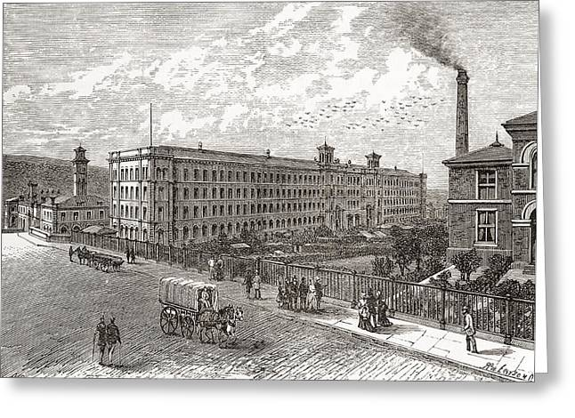 West Yorkshire Greeting Cards - Saltaire Mills, Bradford, West Greeting Card by Ken Welsh