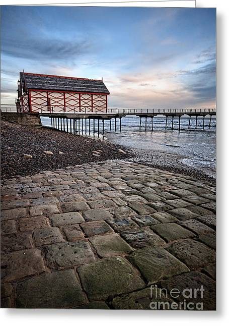 Saltburn By The Sea Greeting Card by Stephen Smith