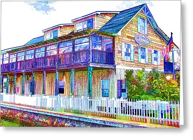 View Greeting Cards - Saltwater Grill Swansboro 1 Greeting Card by Lanjee Chee