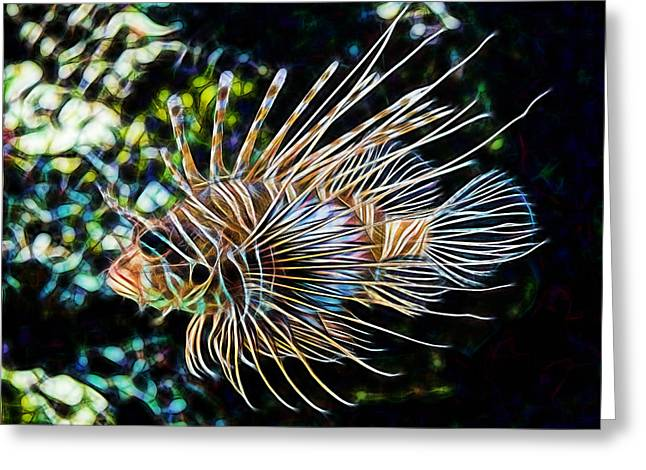 Saltwater Lionfish Greeting Card by Marvin Blaine