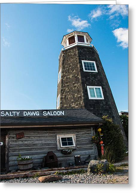Saloons Greeting Cards - Salty Dawg Saloon Greeting Card by Edie Mendenhall