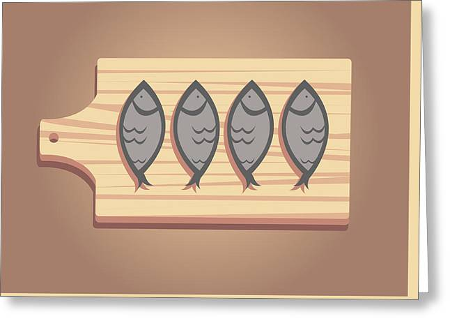 Menu Greeting Cards - Salty Stock Fish On A Woden Board Greeting Card by Dragana  Gajic
