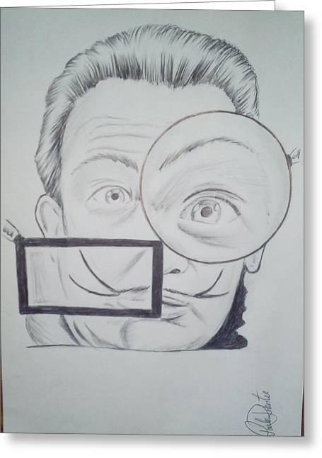 Salvador Dali Greeting Card by Paulo Roberto