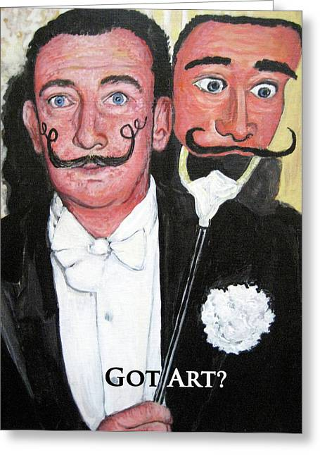 Artist Series Greeting Cards - Salvador Dali Greeting Card by Tom Roderick