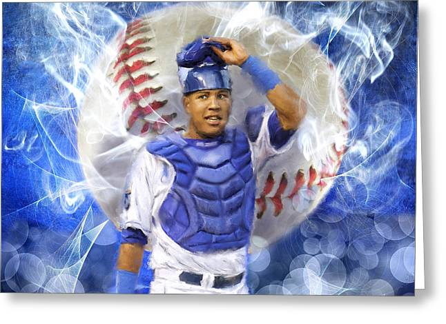 Salvy The Mvp Greeting Card by Colleen Taylor