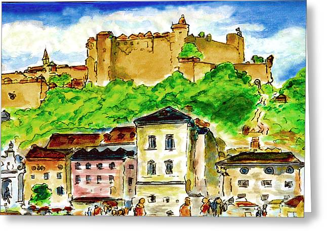 Salzburg Austria jGibney The MUSEUM Greeting Card by The MUSEUM Artist Series jGibney