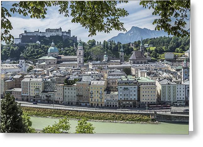 Unique Sights Greeting Cards - SALZBURG Gorgeous Old Town Greeting Card by Melanie Viola
