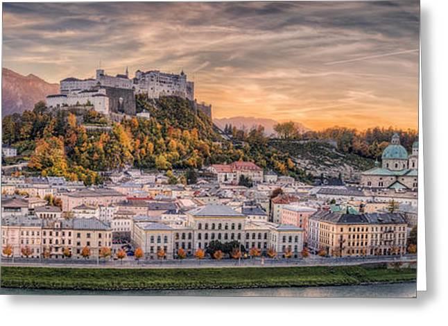 Salzburg In Fall Colors Greeting Card by Stefan Mitterwallner