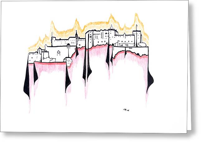 Salzburg Drawings Greeting Cards - Salzburg Greeting Card by Peter Hermes Furian
