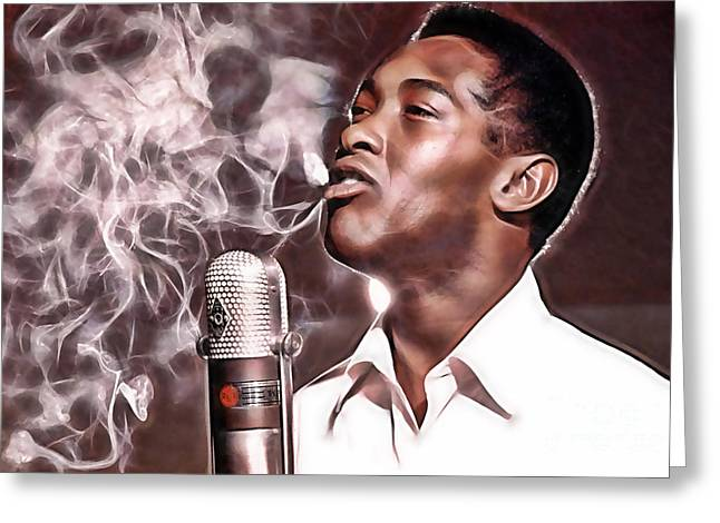 Sam Cooke Collection Greeting Card by Marvin Blaine