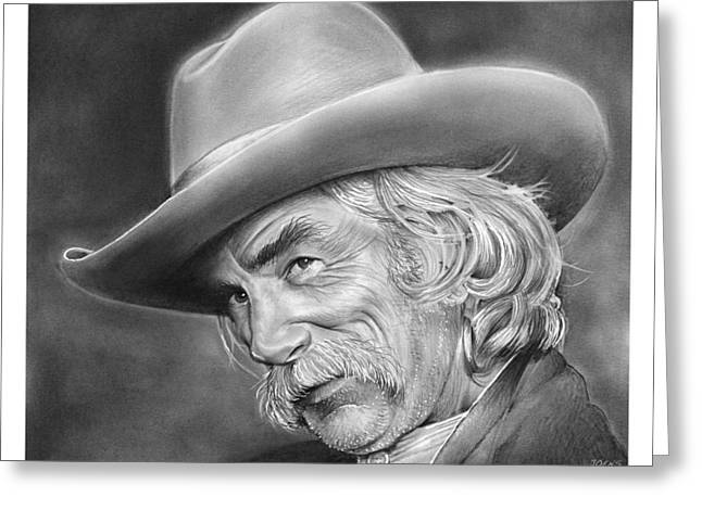 Sam Elliott Greeting Card by Greg Joens